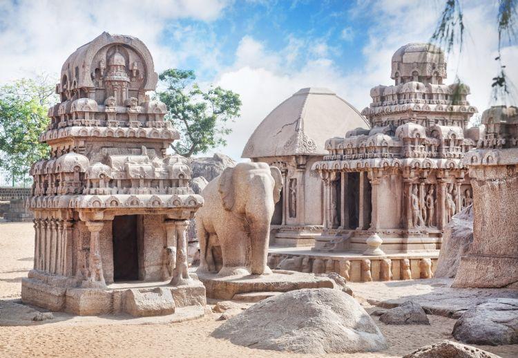Cinq Rathas à Mahabalipuram