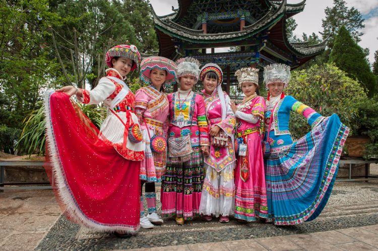 Enfants Naxi à Lijiang