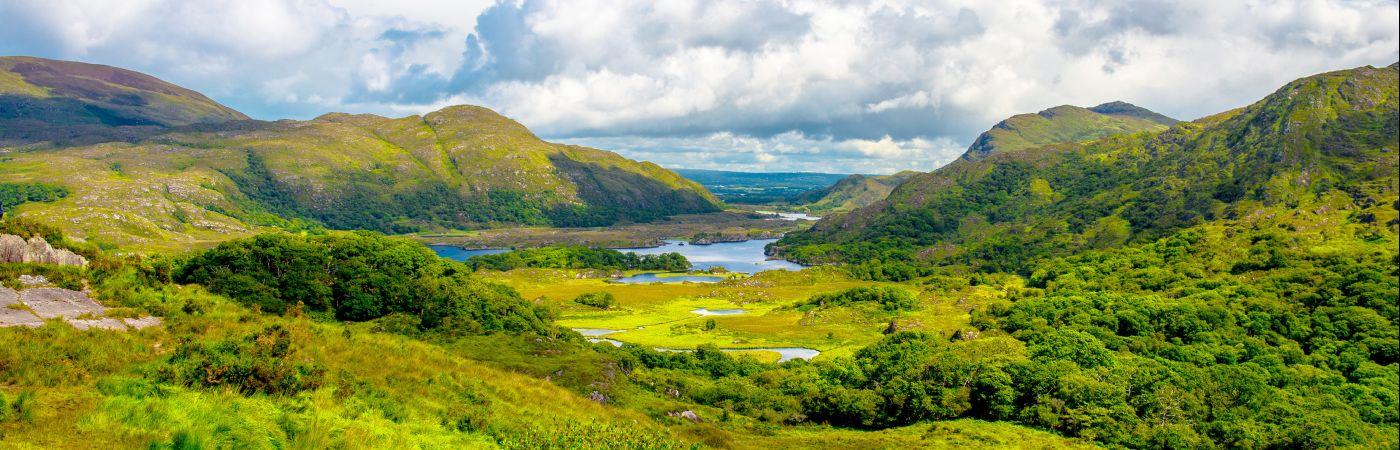 Panorama de Lady's view dans le parc national de Killarney